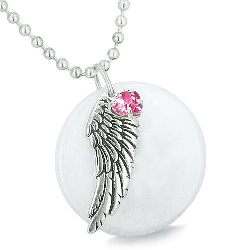 Lucky Angel Charms Amp Totems Amulet Angel Wing White Jade