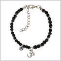 Evil Eye Protection OM Tibetan Spiritual Amulet Royal Black Accents Magic Powers Lucky Charms Bracelet