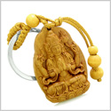 Amulet Blooming Magic Lotus and Praying Kwan Yin Quan Powers Charms Feng Shui Symbols Keychain Blessing