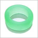 10 Pieces Sea Glass Wide Rings Neon Green Beads Wholesale Components DIY Jewelry Making Arts