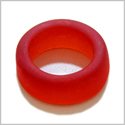 10 Pieces Sea Glass Wide Rings Royal Red Beads Wholesale Components DIY Jewelry Making Arts