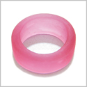 10 Pieces Sea Glass Wide Rings Royal Pink Beads Wholesale Components DIY Jewelry Making Arts