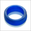 10 Pieces Sea Glass Wide Rings Ocean Blue Beads Wholesale Components DIY Jewelry Making Arts