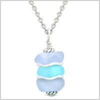 ICY FROSTED WAVES SEA GLASS AMULETS