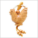 Amulet Fortune and Prosperity Rooster Good Luck Charms Feng Shui Symbols Keychain Blessing