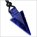Arrowhead Magic Amulet Sodalite Gemstone Protection Powers Crystal Point Lucky Charm Pendant Necklace