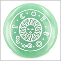 Positive Energy Talisman of Sun Green Aventurine Magic Gemstone Circle Spiritual Powers Keepsake Individual Totem
