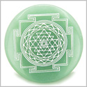 Sri Yantra Chakra Talisman Green Aventurine Magic Gemstone Circle Spiritual Powers Keepsake Individual Totem