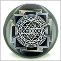 Sri Yantra Chakra Talisman Black Onyx Magic Gemstone Circle Spiritual Powers Keepsake Individual Totem