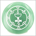 Seal of Queen Amulet Green Aventurine Magic Gemstone Circle Spiritual Powers Keepsake Individual Totem