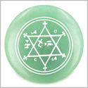 King of Solomon Circle of Pentacle Magic Hexagram Green Amulet Aventurine Gemstone Circle Spiritual Powers Individual Totem