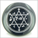 King of Solomon Circle of Pentacle Magic Hexagram Amulet Black Onyx Gemstone Circle Spiritual Powers Keepsake Individual Totem