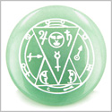 Sun Talisman from the Sage of the Pyramids Green Aventurine Magic Gemstone Circle Spiritual Powers Keepsake Individual Totem