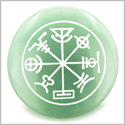 Talisman of Mercury Complete Circle of Time Green Aventurine Magic Gemstone Spiritual Powers Keepsake Individual Totem