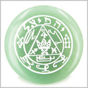 Talisman of Jupiter Green Aventurine Magic Gemstone Circle Spiritual Powers Keepsake Individual Totem