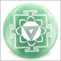 Kali Yantra Amulet Green Aventurine Magic Gemstone Circle Spiritual Powers Keepsake Individual Totem
