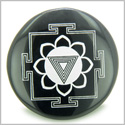 Kali Yantra Amulet Black Onyx Magic Gemstone Circle Spiritual Powers Keepsake Individual Totem