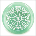 Star of Hermes Amulet Travelers Protection Green Aventurine Magic Gemstone Circle Spiritual Powers Keepsake Individual Totem