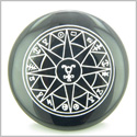 Star of Hermes Amulet Travelers Protection Black Onyx Magic Gemstone Circle Spiritual Powers Keepsake Individual Totem