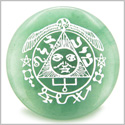 Success in Work and Wealth Talisman of Sun Green Aventurine Magic Gemstone Circle Spiritual Powers Keepsake Individual Totem