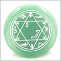 Magic Hexagram Amulet Green Aventurine Gemstone Circle Spiritual Powers Keepsake Individual Totem