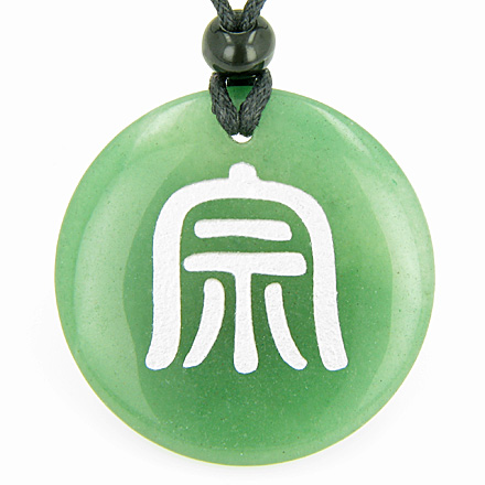 Best Amulets Far Eastern Protection Druids Amulet Green Aventurine Gemstone Circle Good Luck Powers Pendant Necklace