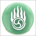 Pearl in Flames Love Druids Amulet Green Aventurine Gemstone Circle Spiritual Powers Keepsake Individual Totem