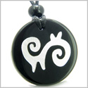 Amulet Supernatural Energy and Spiritual Path Protection Powers Genuine Black Onyx Medallion Circle Pendant Necklace