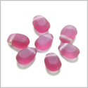 30 Pieces Sea Glass 16mm Tear Drop Beads Royal Pink Charms Wholesale Components DIY Jewelry Making Arts