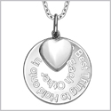 "The Best Thing to Hold on to in Life Inspirational Pendant White Cats Eye Heart Charm Amulet 22"" Necklace"