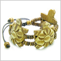 Amulet Original Tibetan Three Turtle Natural Carved Bone Lucky Charms Adjustable Bracelet