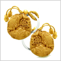 Amulet Double Lucky Todd Fortune Coins Good Luck Powers Charms Feng Shui Symbols Keychain Set Blessings