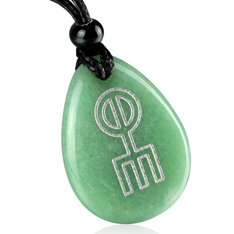 Magic Word Stones Totem Necklace Amulet Norse Rune Spell Charm