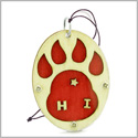 Wolf Paw Courage and Protection Powers Unique and Magic Wooden Car Charm or Home Decor Blessing