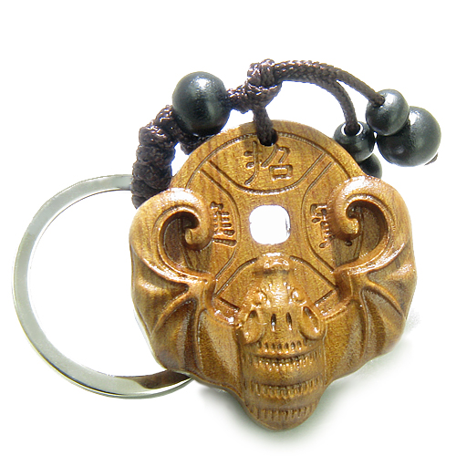 Money Talisman Amulet Sandal Wood Magic Bat And Feng Shui Symbols Lucky Coin Fortune And Good L