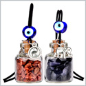 Lucky Elephant Yin Yang Love Couples Small Car Charms Home Decor Gem Bottles Red Blue Goldstone Amulets