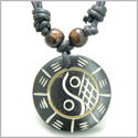 Amulet Original Tibetan Yin Yang BA GUA Balance Powers Natural Bone Magic Pendant Necklace