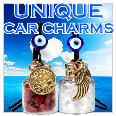 Unique Gemstone Car Charms