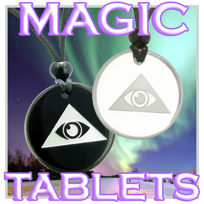 Magic And Unique Tablet Shaped Stone Amulets