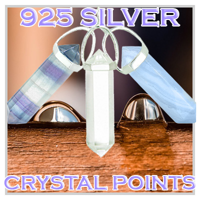 Natural Energy 925 Silver Crystal Points