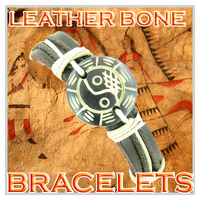 Lucky Leather And Bone Bracelets