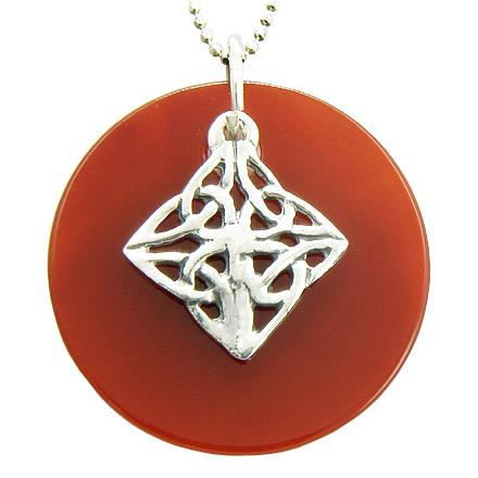 Natural Gemstone and Crystal Celtic Powers 925 Silver Jewelry and Amulets
