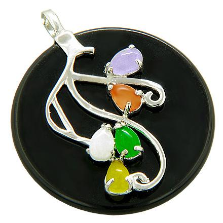 Natural Gemstone Medallions Lucky Crystal 925 Silver Jewelry Amulets and Gifts