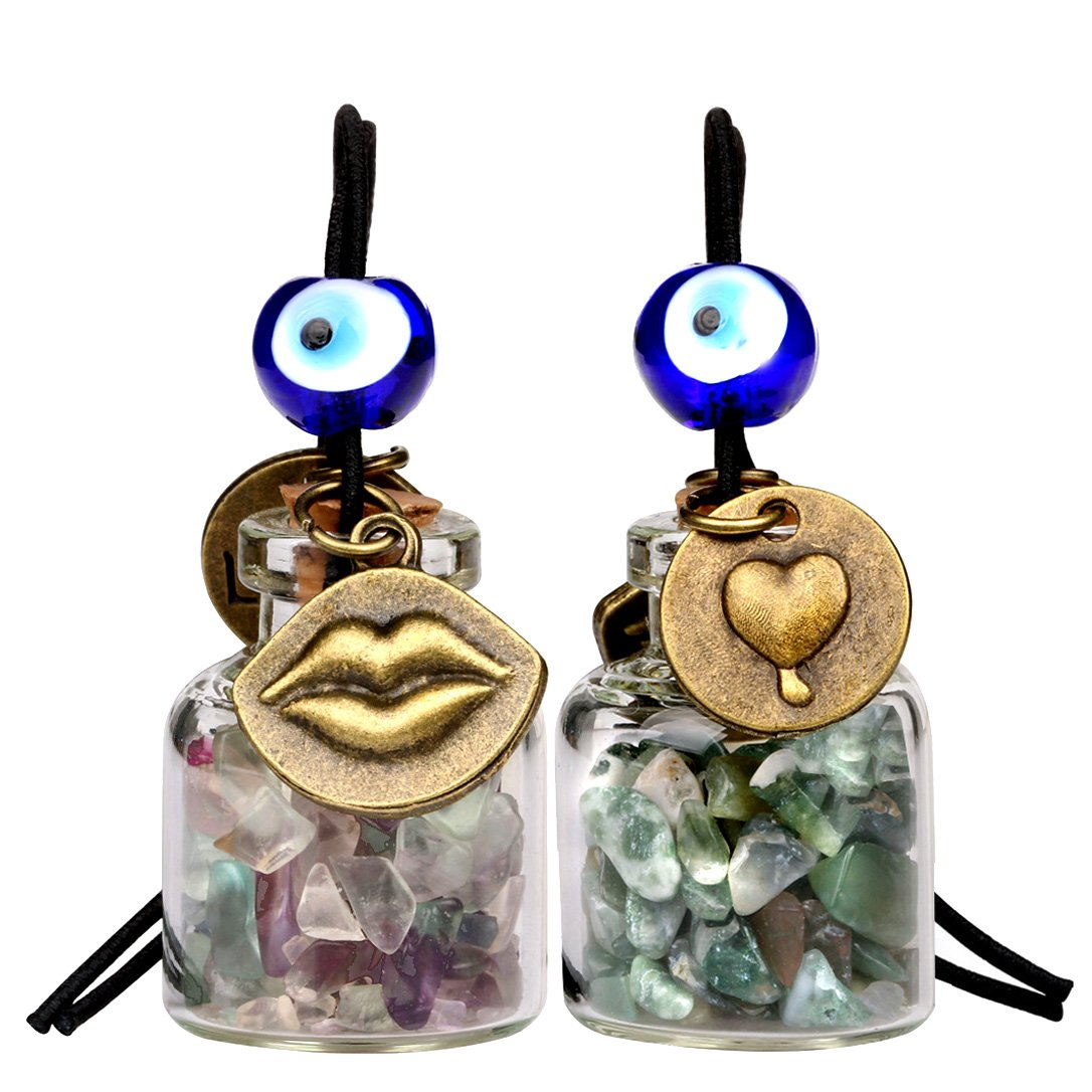 Aura Protection Talisman Fluorite Gemstone Car Charms and Gifts