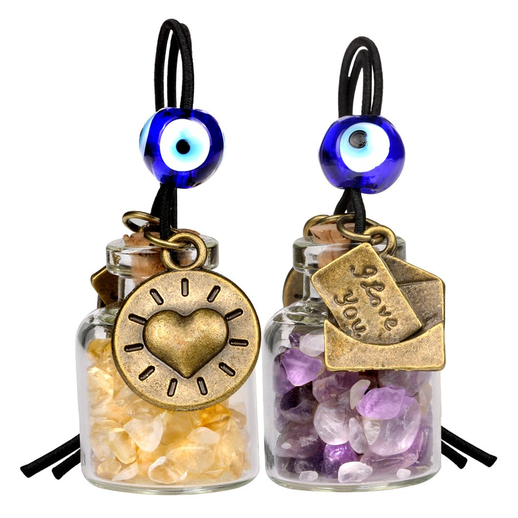 Business Attractor Talisman Citrine Gemstone Car Charms and Gifts