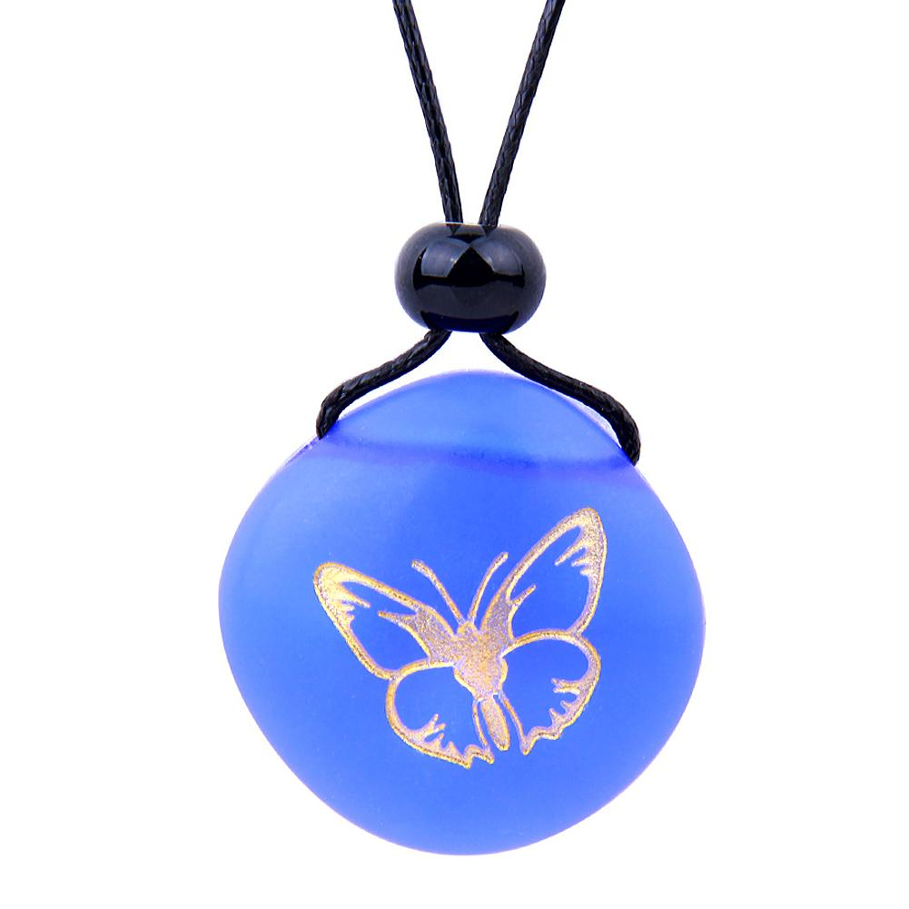 Lucky Butterfly Cute Sea Glass Jewelry Amulets and Talismans