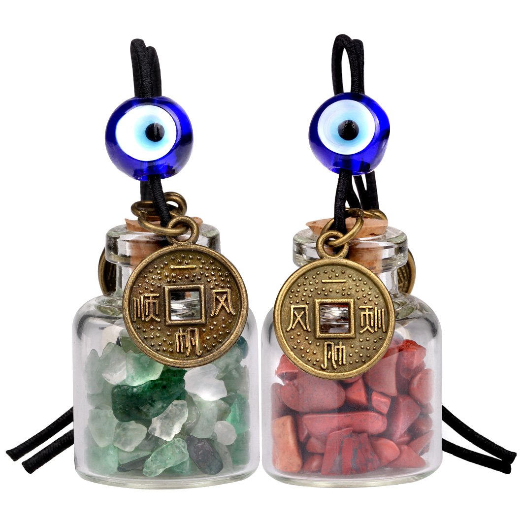 Lucky Coin Gemstone Car Charms