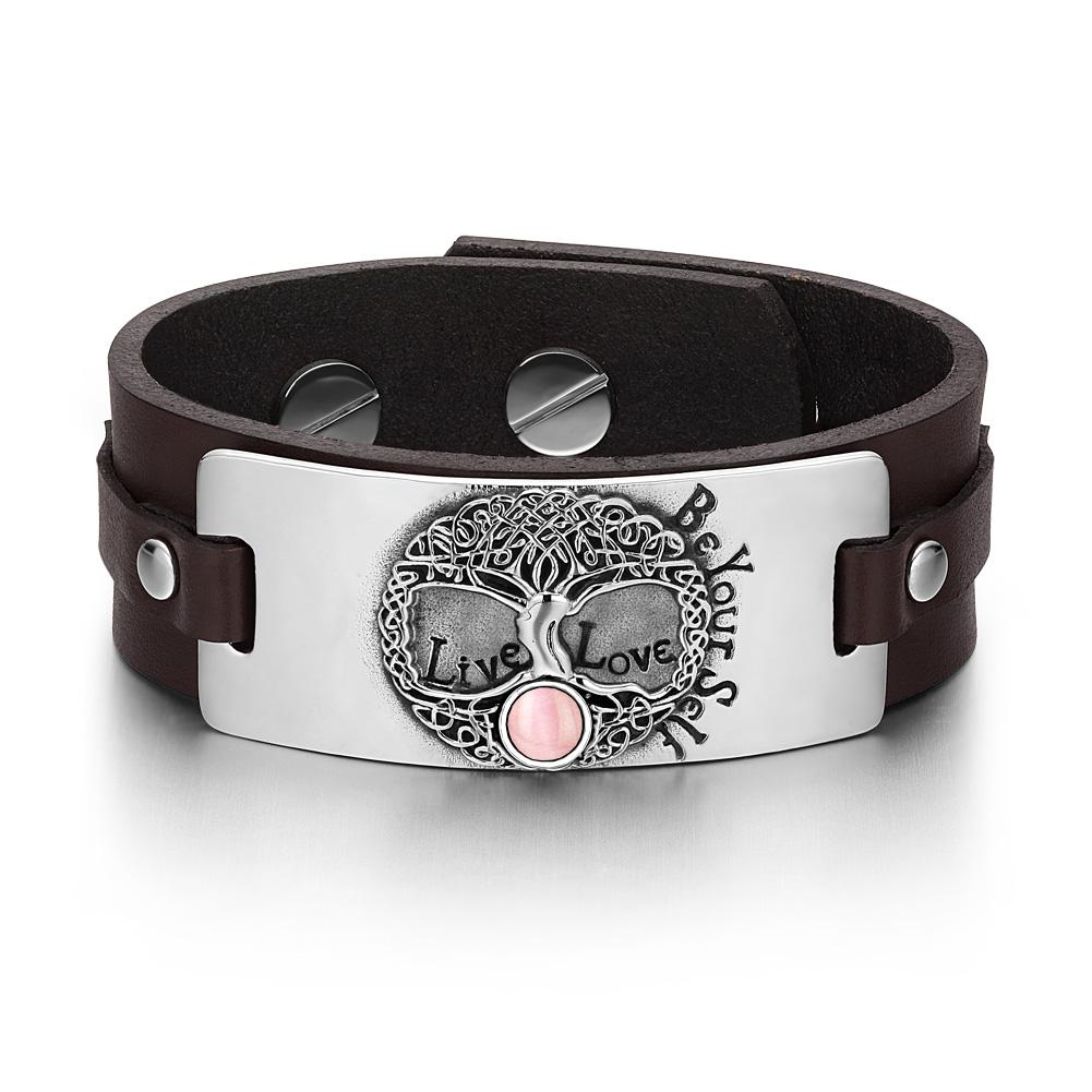 Unique Fashion Tree of Life Celtic and Magic Powers Leather Bracelets