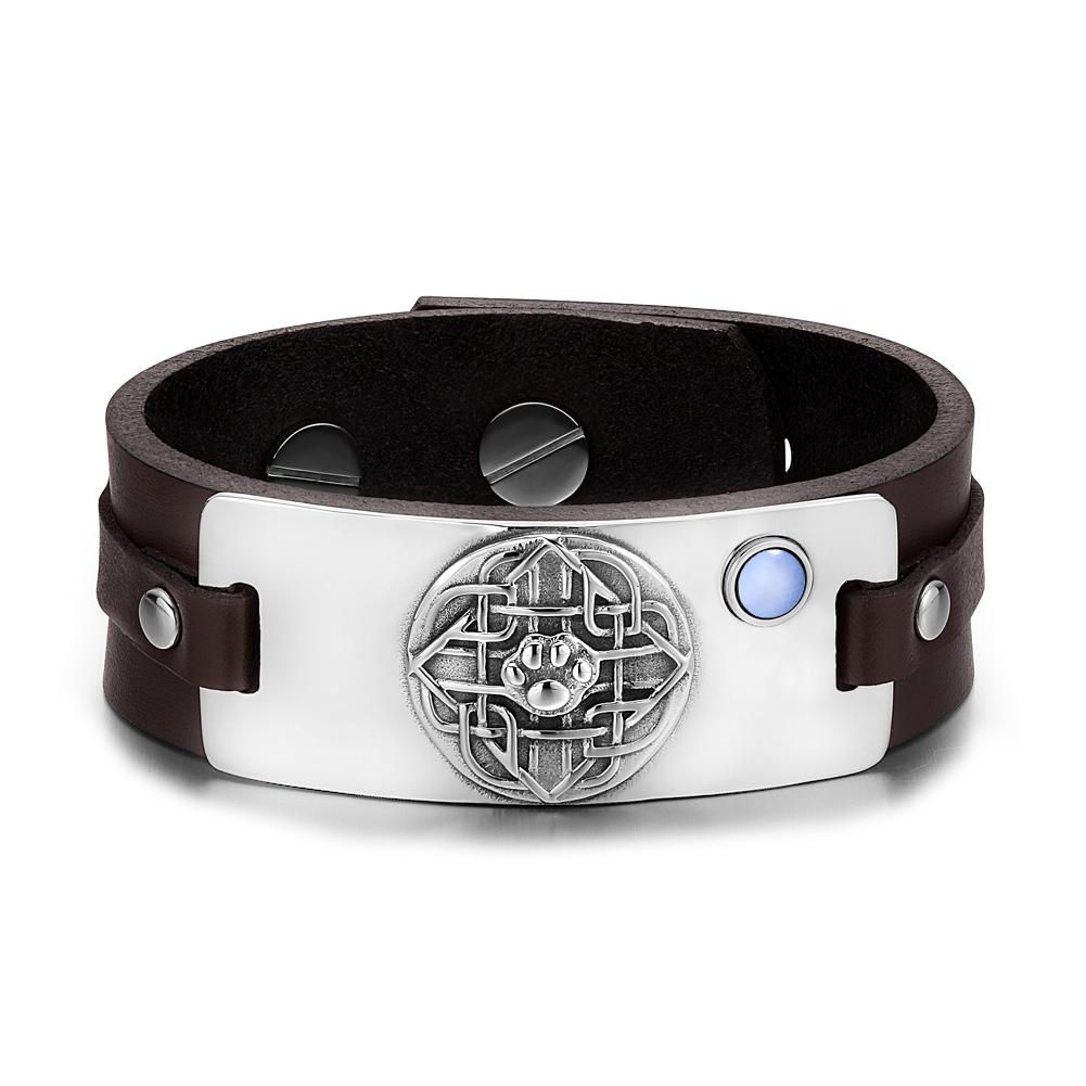 Wolf Paw Celtic and Courage Powers Unique Amulets Leather Bracelets