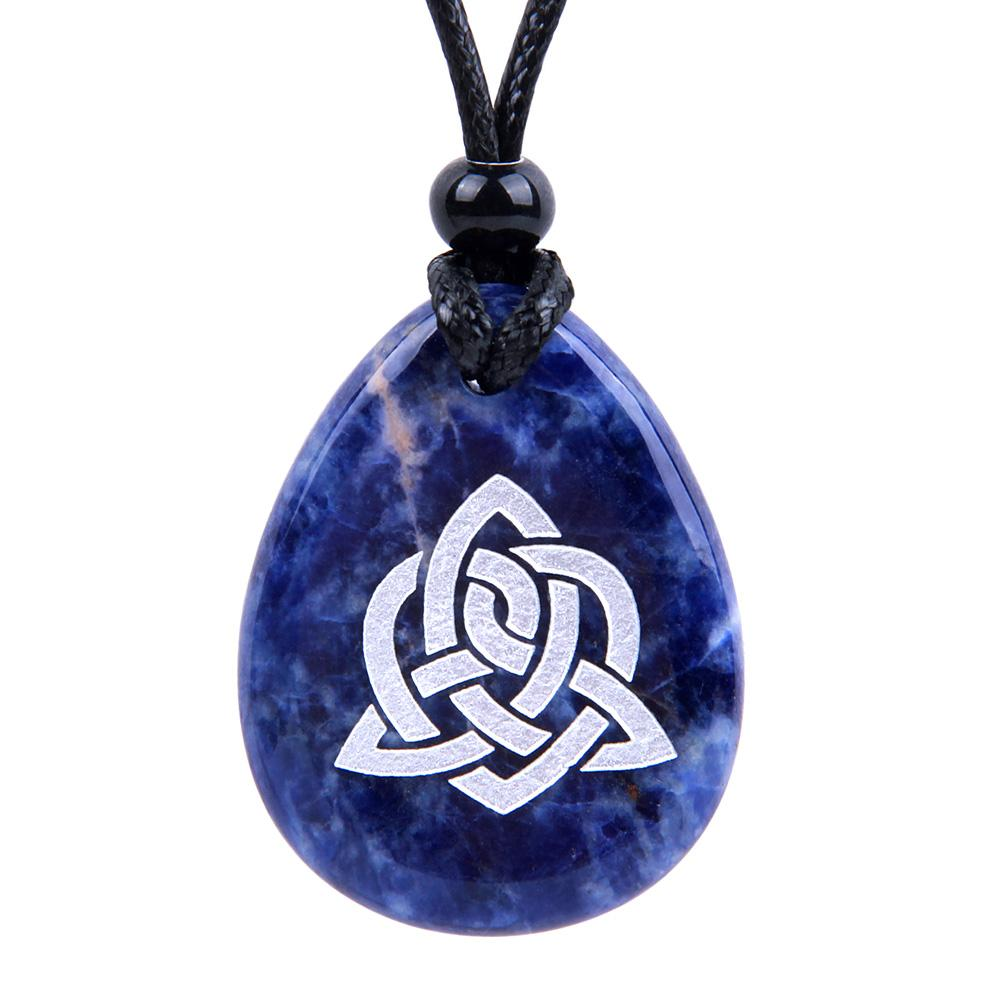 Celtic Protection Knots Natural Sodalite Gemstones Jewelry and Gifts